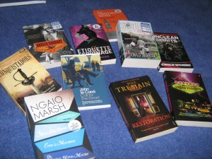 A photo of all the books I bought today