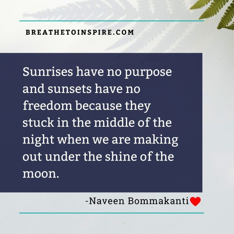sunrises has no purpose-love-quotes
