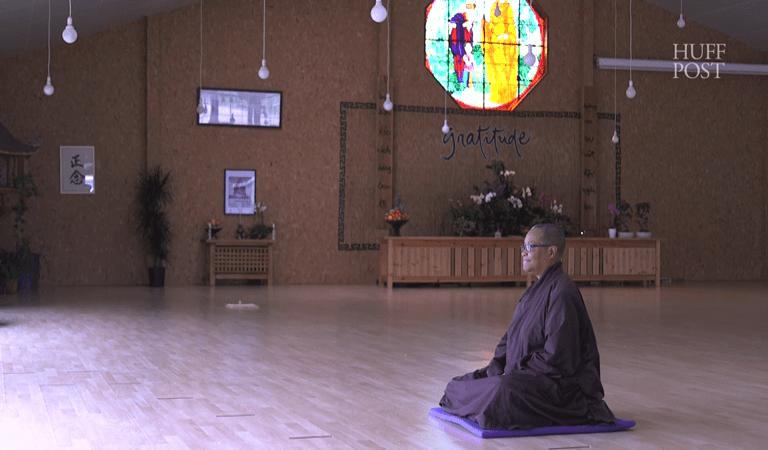 Sister Peace meditating