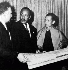 Rev Dr Martin Luther King with Thay Thich Nhat Hanh