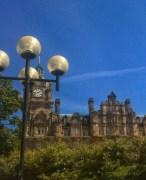 Round lights, round clock, round windows - Edinburgh