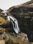 The actual Glymur waterfall
