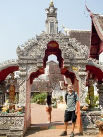 Mike at a wat, there are LOTS of wats.