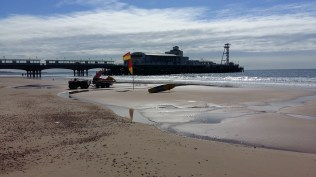 The Peir and life guards at Bournemouth