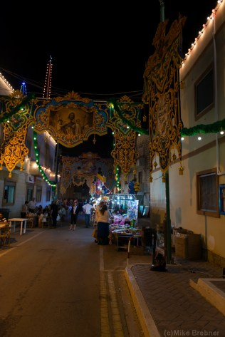 A decorated street
