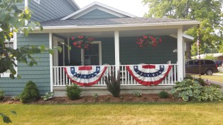 July 4th bunting was out everywhere.