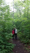 Susan and Mike on the Bruce Trail