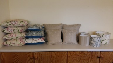 Some of the completed cushions