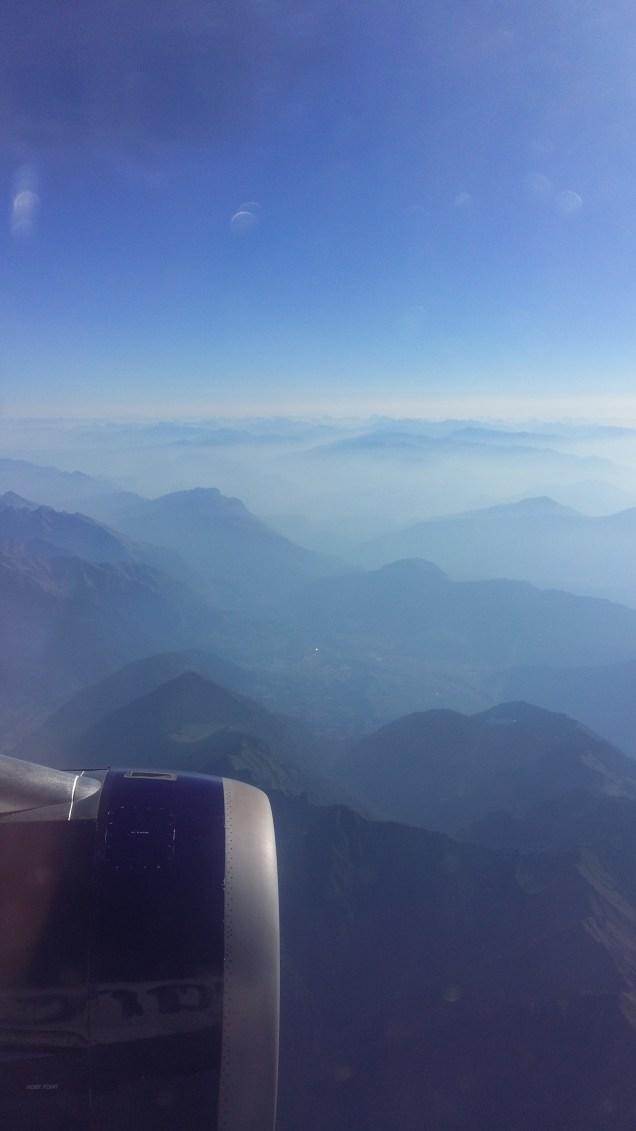 Flying through the Italian Alps