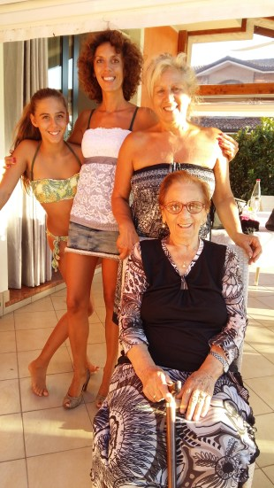 Four generations of De Biagi women.