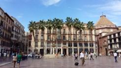 Malaga town square