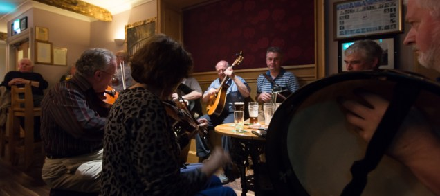 Music sessions at the pub