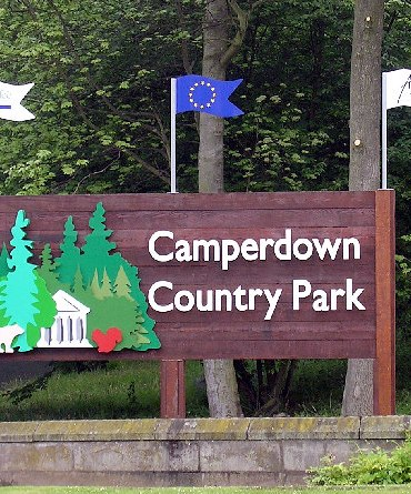 Photo shows the Entrance to Camperdown Country Park