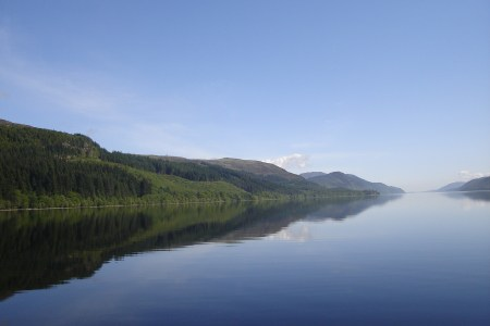 Photo shows Loch Ness in summer