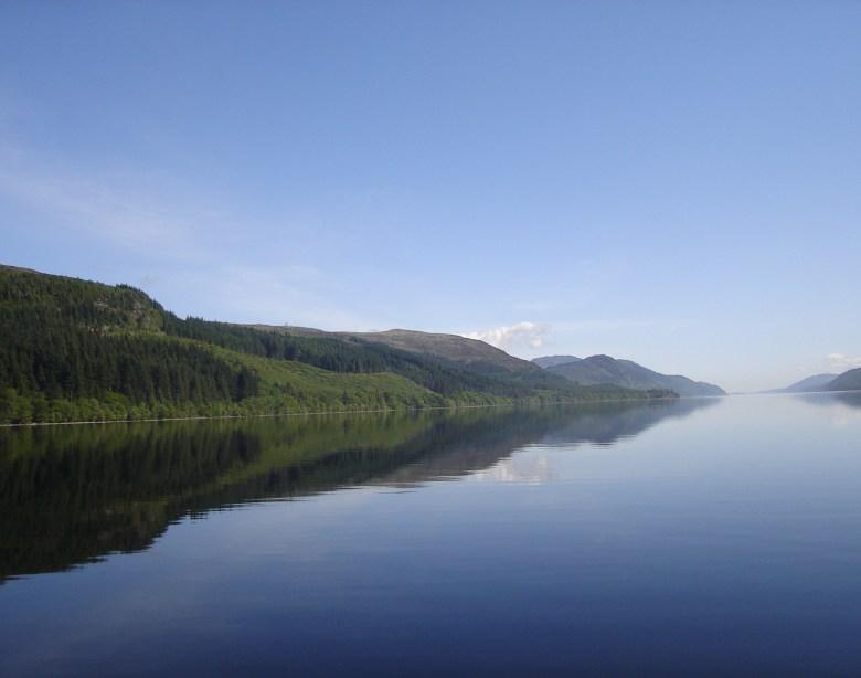 Photo shows Loch Ness in summer