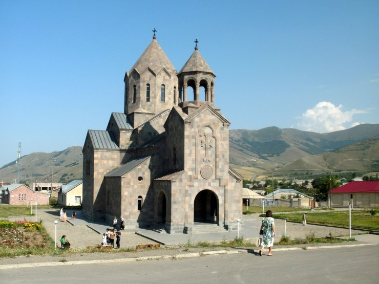 De kerk van Spitak.