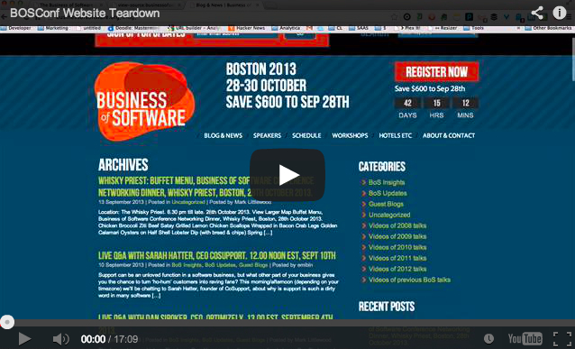 Business of Software Website Teardown