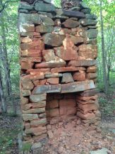 There are random chimneys in the woods where houses once stood in Virginia. This one is in Walnut Creek Park where I rode while in Charlottesville.