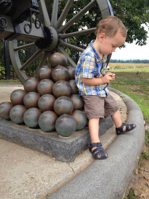Enzo hanging with some cannons.