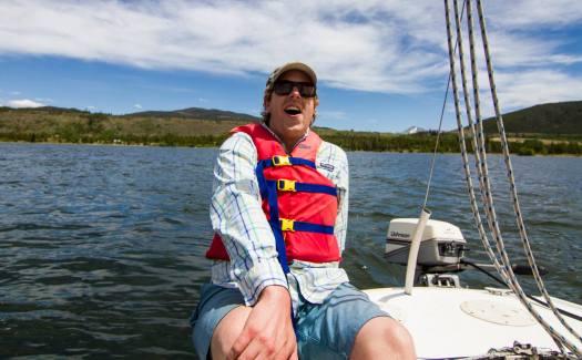 Joe Moore on a Boat