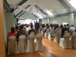 Upstairs ceremony