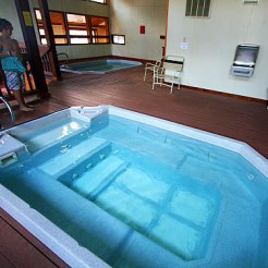 Two indoor hot tubs.