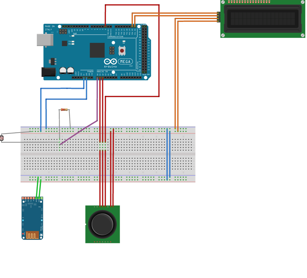 medium resolution of  and the lcd display which displays the position of the joystick and the status of the light sensor the wiring diagram for this station can be found on