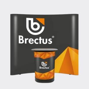 Messevæg buet med paneler fra Brectus