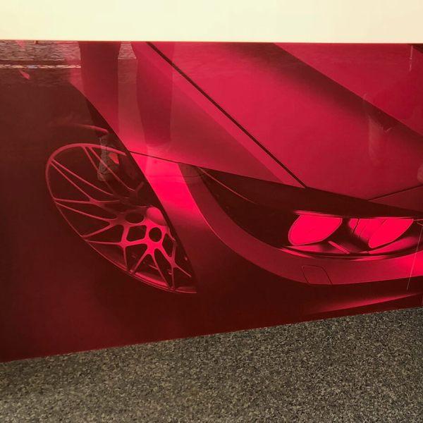 Print på plade med bil