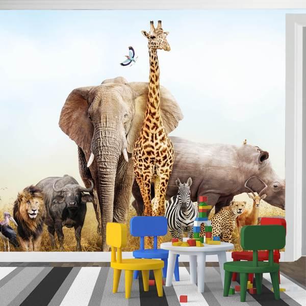 Fototapet til børns værelse - Motiv dyr
