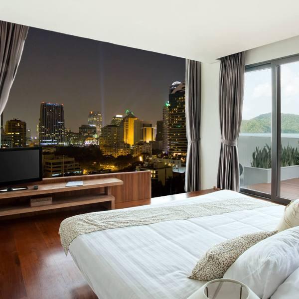 Fototapet til soveværelse - Motiv By