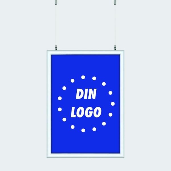 Plakatramme Wire Tosidig Din Logo