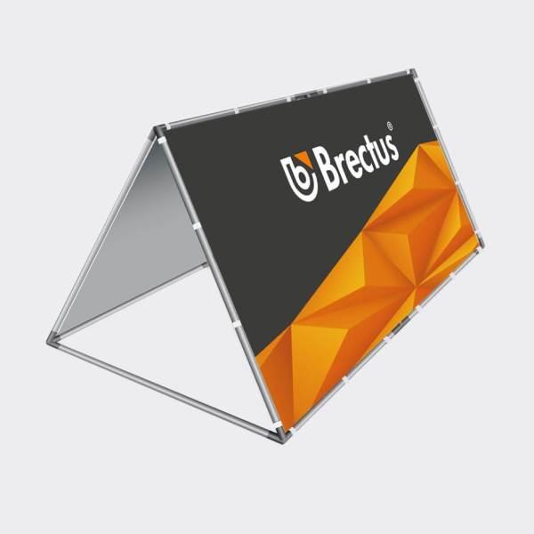 Bannerstand, reklamebanner, bannersystem, trekantformede bannerstand, liggende bannerstand, utendørs bannerstand