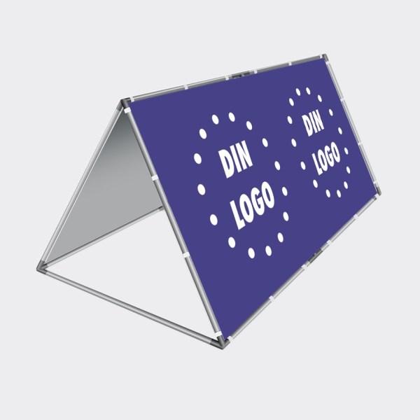 Bannerstand, reklamebanner, bannersystem, trekantformede bannerstand