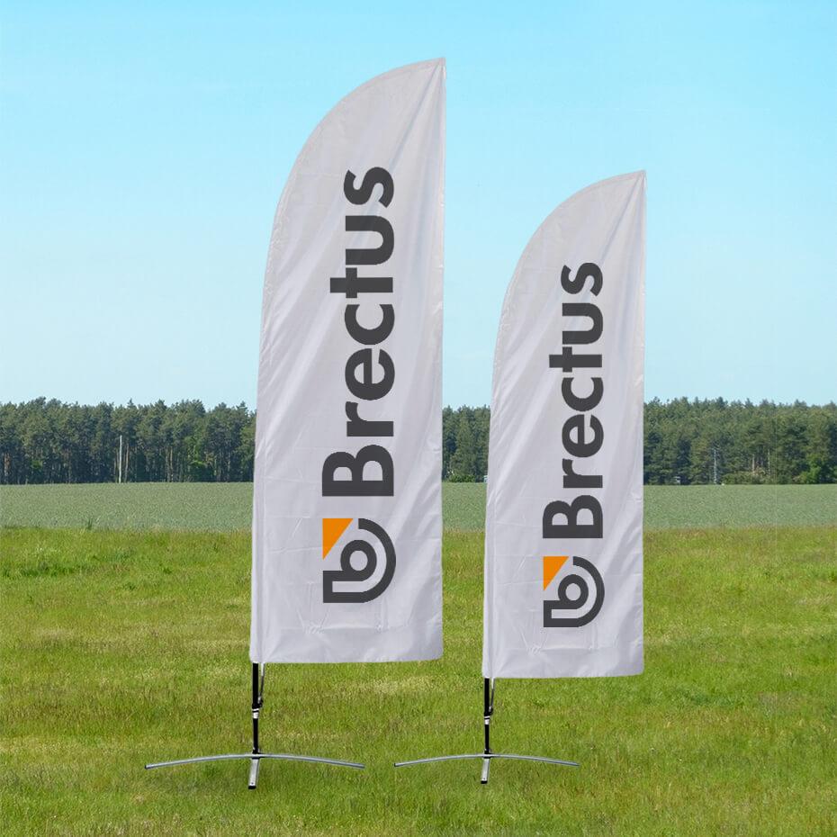 Brectus Beachflagg Klassisk strandflagg