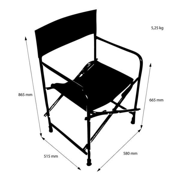 Director's Chair, reklamestol, stol med trykk, stol med logo, sammenleggbar regissørstol, bærbar stol 4