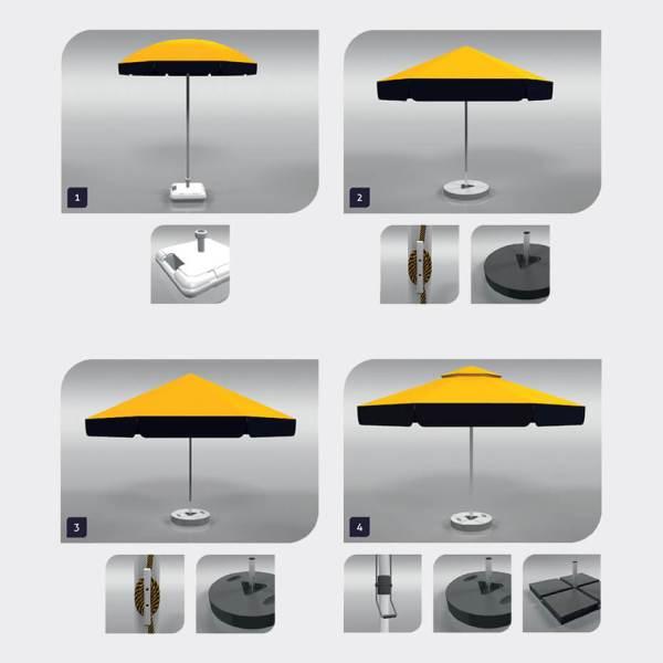 reklameparasoll, reklameparasoll med print, parasoll med logotrykk, rund parasoll med trykk, Parasoll med spesialtrykk, parasoller med trykk 2
