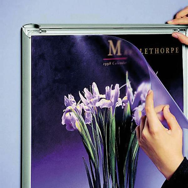 Plakatramme med klemlist 25mm lett å ta ut plakat