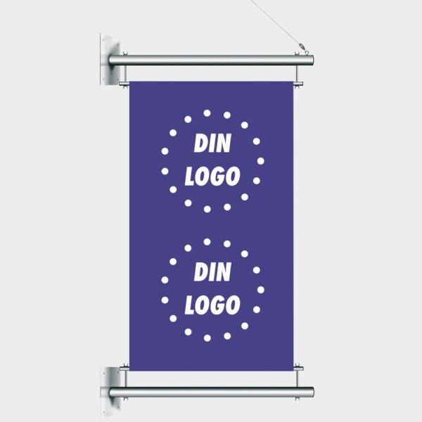 bannerarm, reklamebanner, bannersystem, tekstil banner, bannerflagg, stolpebanner, bannerarmer