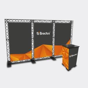 Trossekonstruksjon 3 bannere og bord fra Brectus