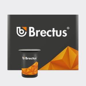 Messevegg rett med paneler fra Brectus