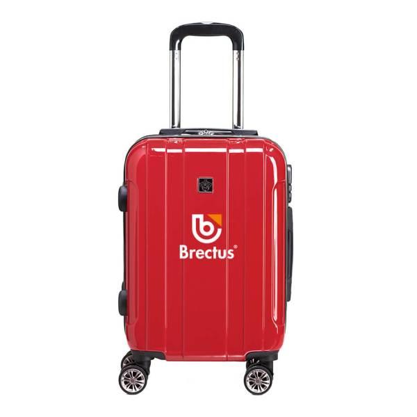 Koffert med trykk rød