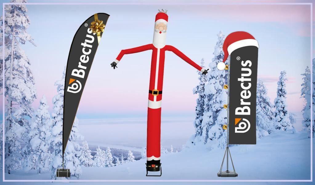 Brectus Beachflagg i jule dekorasjon