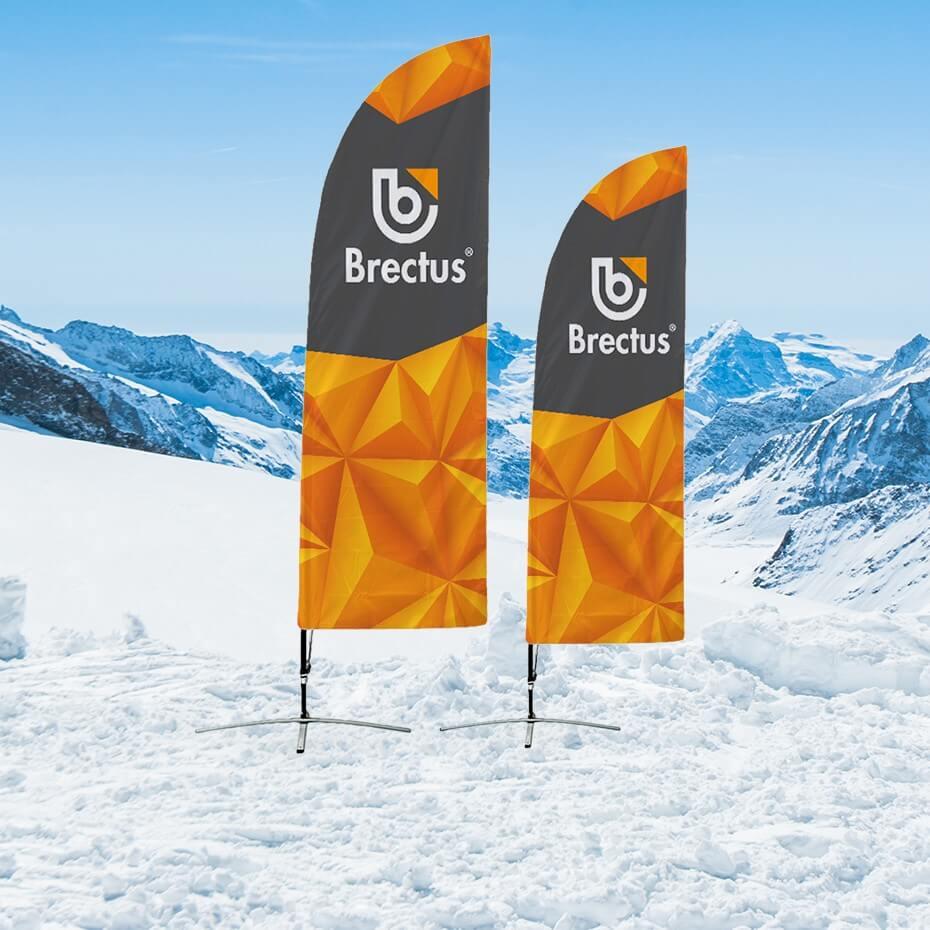 Brectus Beachflagg i vintermiljø