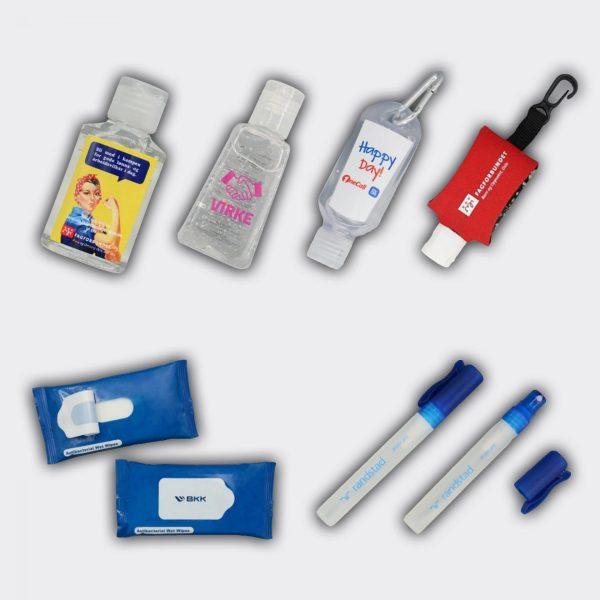 Antibakteriell Håndvask Håndsprit småflasker med logo
