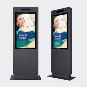 Pilar skjermsøyle, interaktive kiosker og kommersielle flater.