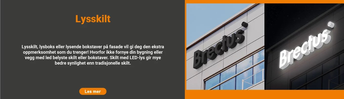 Brectus - Nyhet - Lysskilt