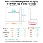 Horizontal Urban Murphy With Top And Side Hutches Bredabeds