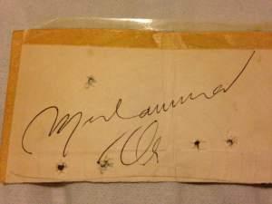 Ali's Autograph