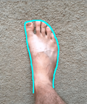 right-foot-with-outline